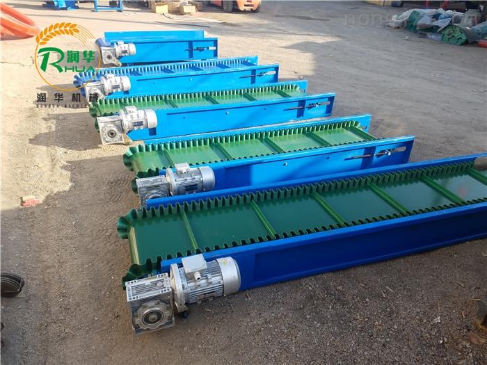装卸集装箱液压输送机 绿色PVC防滑传送带
