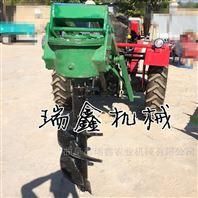 四轮拖拉机带动牵引式挖坑机