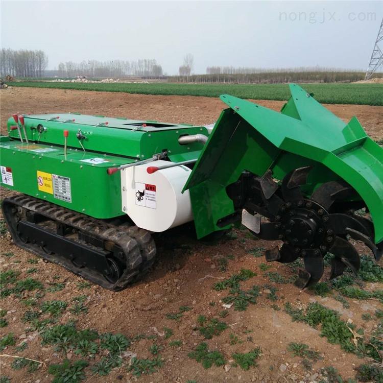 果园小型旋耕机 柴油电启动施肥机