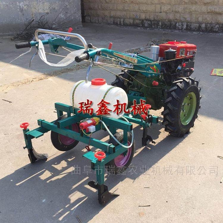 农用四轮带覆膜机 两行玉米花生播种机
