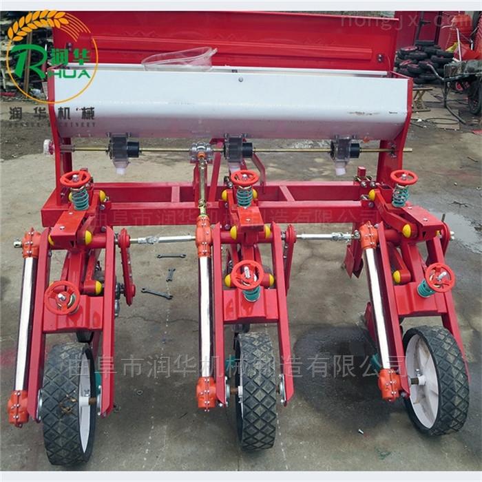 单双粒下种玉米穴播机 手扶车牵引播种机