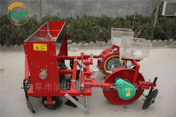 先覆膜后播种玉米精播机 拖拉机大豆点播机