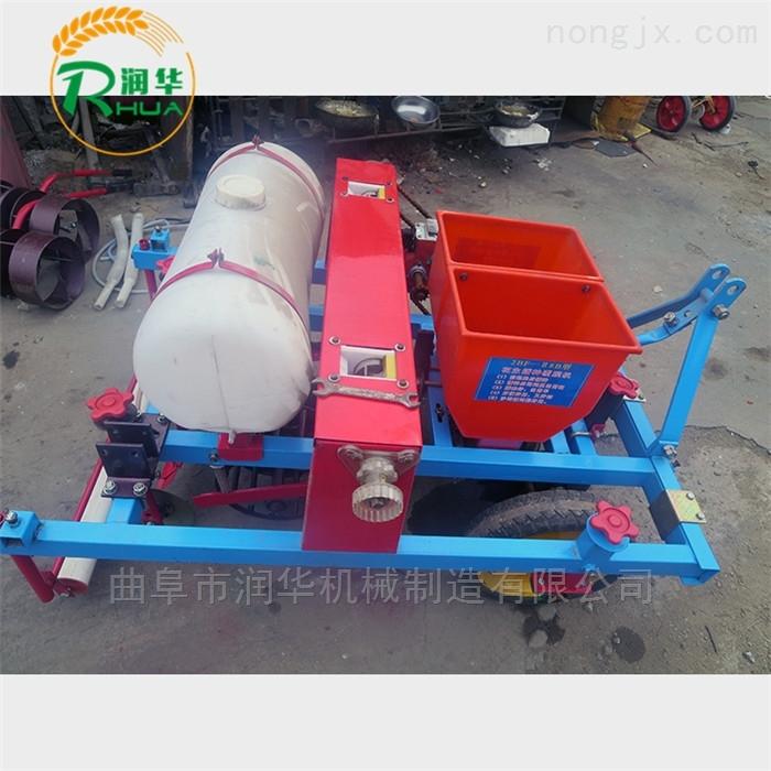 定制穴距玉米施肥播种机 手扶拖拉机精播机