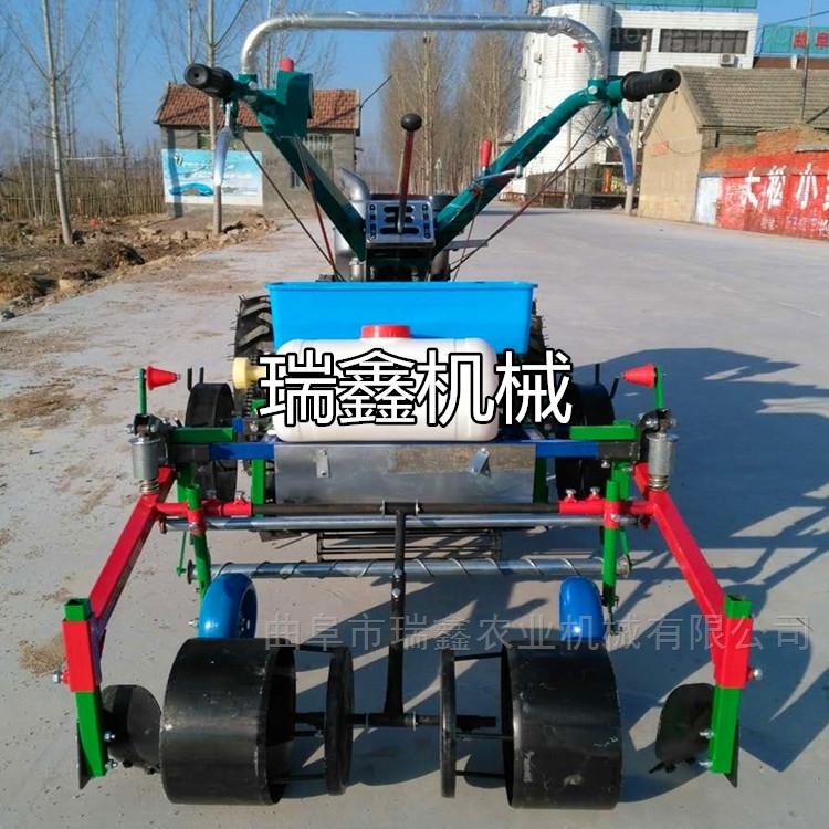 四轮红薯起垄施肥机 全自动土豆覆膜机