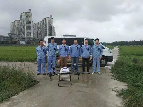 标普农业参加海南琼海市水稻重大病虫害统防统治